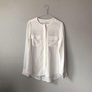 Equipment Femme silk long sleeve shirt